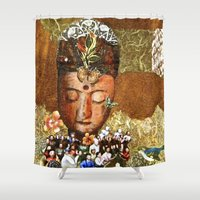 meditation Shower Curtains featuring Meditation by Bonnie M. Cummings ~ BeauCollage