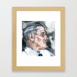 JAMES JOYCE - watercolor portrait Framed Art Print