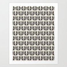 Grumpy Kitties Art Print
