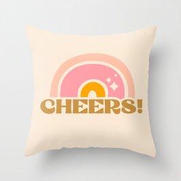 cheery cheers Throw Pillow