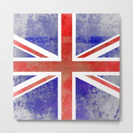 Grunge Union Jack Flag Metal Print