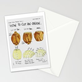 How to cut an onion Stationery Cards