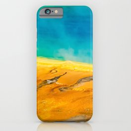 Grand Prismatic Geyser Yellowstone Nature Print iPhone Case