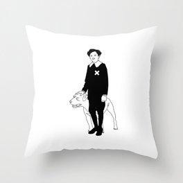 Dog Dick Web Site Throw Pillow
