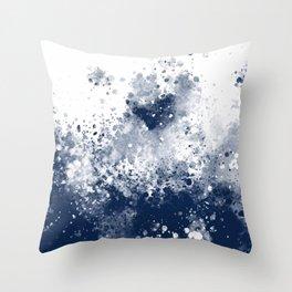 Dark Water Spash Throw Pillow