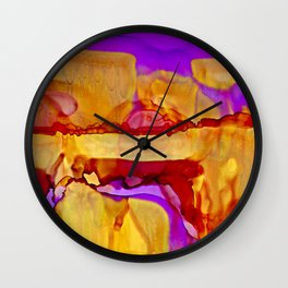 Golden Hills at Twilight Wall Clock