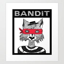 Bandit Brother II by Lauren Mayhew Art Print