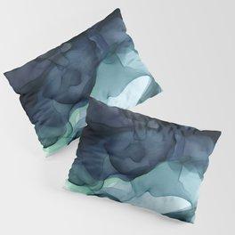 Night Blue Flowing Art Pillow Sham