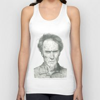 clint eastwood Tank Tops featuring Clint Eastwood by theMAINsketch