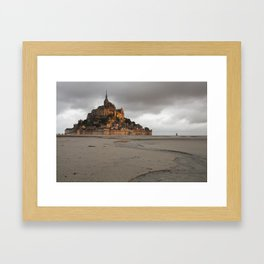 Golden Hour at Le Mont Saint-Michel Framed Art Print