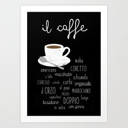 Coffee poster Art Print