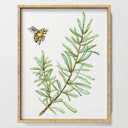 Rosemary and Honey Bee Serving Tray