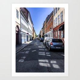 Lazy Summer Days in Old Town Copenhagen Denmark Art Print