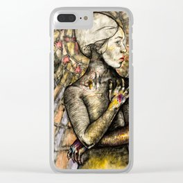 Black Madonna Clear iPhone Case