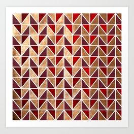 Xmas Geometric Pattern Art Print