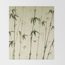 Bamboo forest Throw Blanket