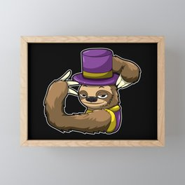 Sloth In A Mardi Gras Costume - Lazy Carnival Framed Mini Art Print