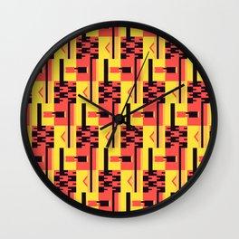 Kente Pattern Design Wall Clock