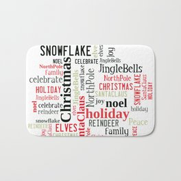 Christmas typography Bath Mat