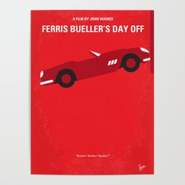 No292 My Ferris Bueller's day off minimal movie poster Poster