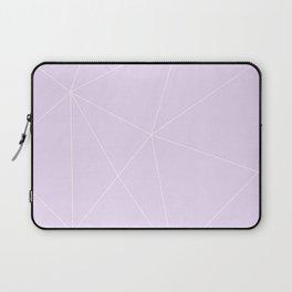 White on Purple Laptop Sleeve