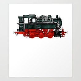 Locomotive Train Railroad Railway Steam Vintage Art Print