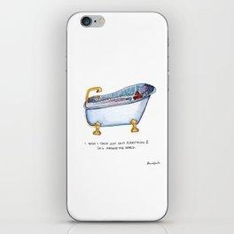 Sail around the world in a bath tub iPhone Skin