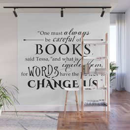 Words Have the Power to Change - Tessa (White) Wall Mural