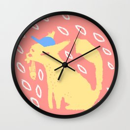 Bobcat's Lunch Wall Clock