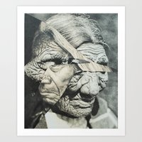 Faces of the Past II Art Print
