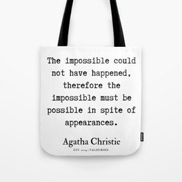 4  | Agatha Christie Quotes | 190821 Tote Bag