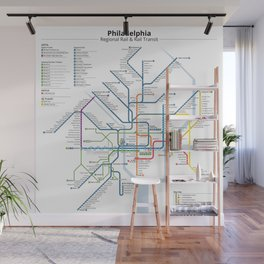 Philadelphia Transit Map Wall Mural