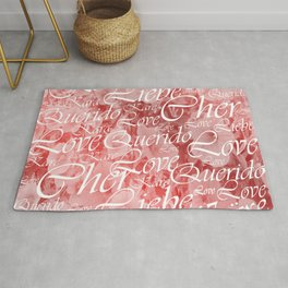 love, word, language, happy, design, graphic, message, text, greeting, multiple, symbol, valentine, Rug