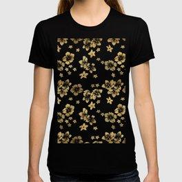 Gold Tropical Flowers T-shirt