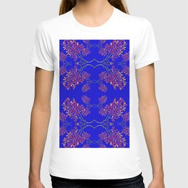 Orchids on Blue T-shirt