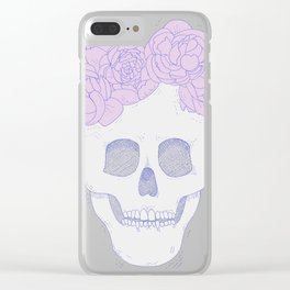 Crown of Peonies Clear iPhone Case