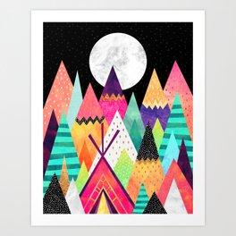 Land of Color / Night version Art Print