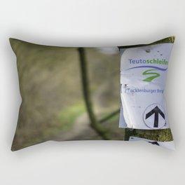 Teutoschleifen Tecklenburger Bergpfad Sign bokeh Rectangular Pillow