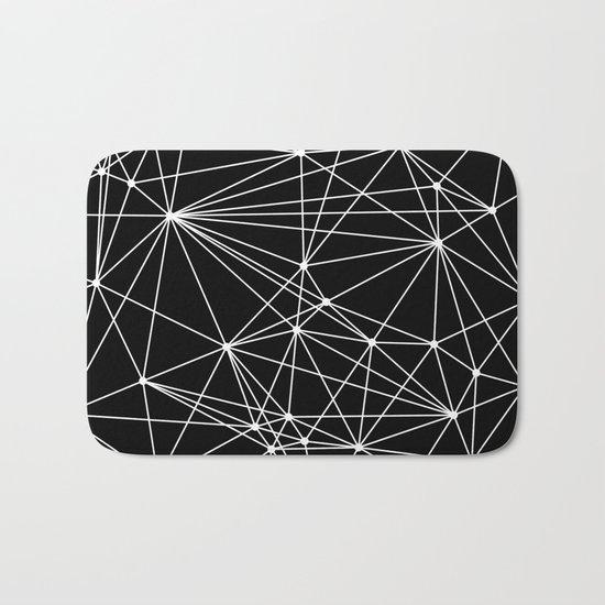 Black & White Geometric Web II Bath Mat