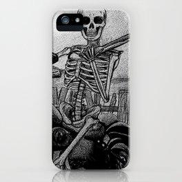 Skeleton Fat Boy iPhone Case