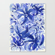Blue flowers. Canvas Print
