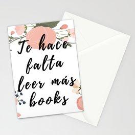 Te hace falta leer más books Stationery Cards