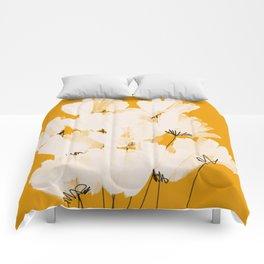 Flowers In Tangerine Comforters