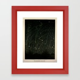 Meteor shower by Étienne Léopold Trouvelot (1868) Framed Art Print
