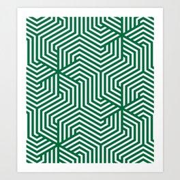 Cadmium green - green - Minimal Vector Seamless Pattern Art Print