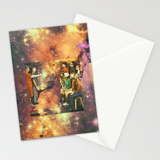 Orange dimension Stationery Cards