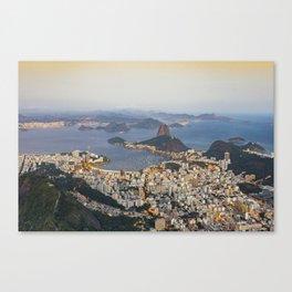 Beautiful Rio de Janeiro at sunset Canvas Print