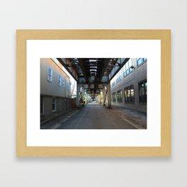 Brown Line, Ravenswood, Chicago Framed Art Print