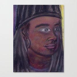 Self-Portrait of a College Senior Canvas Print
