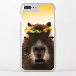 Capybara Shining Clear iPhone Case